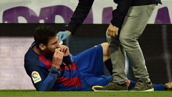 Lionel Messi, soigné après l'accueil compliqué réservé par Marcelo au stade Santiago-Bernabeu lors de Barça-Real.