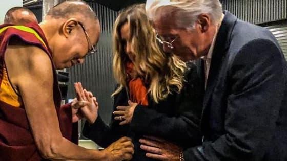 Le Dalaï Lama et la famille Gere