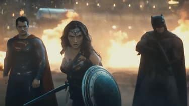"Henry Cavill, Gal Gadot et Ben Affleck dans ""Batman V Superman""."