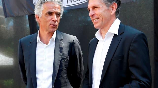 Jean-Pierre Rivère aux côtés de Claude Puel