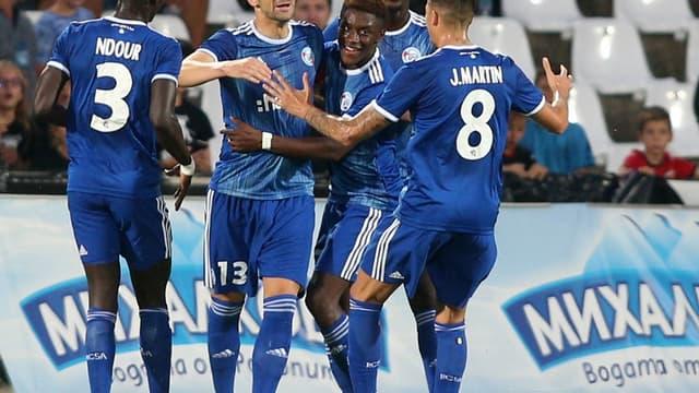 Mitrovic, le capitaine du RCS, était le seul buteur la semaine dernière en Bulgarie (0-1)