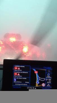 Forts orages sur l'A9 - Témoins BFMTV