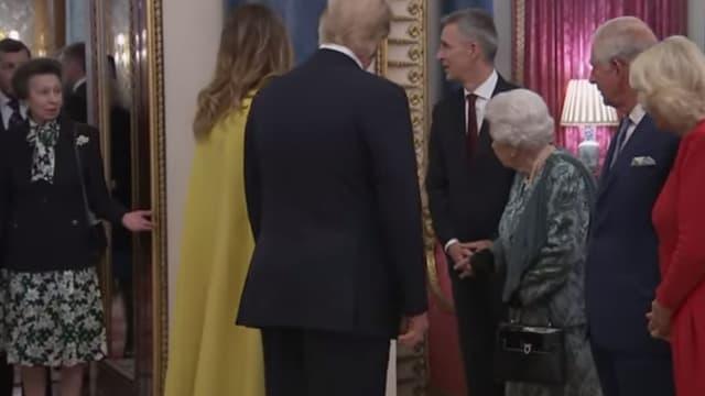 La Princesse Anne, Donald Trump et Elizabeth II