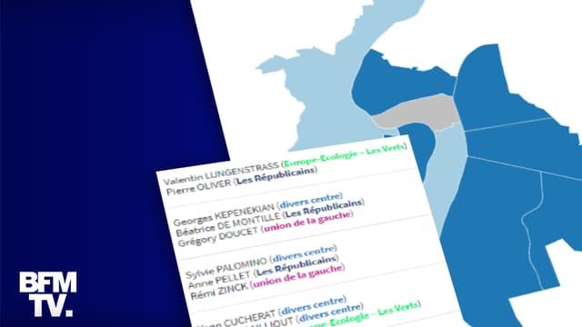 Infographie sur le second tour des élections municipales à Lyon.