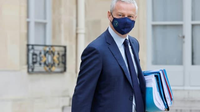 Le ministre de l'Économie Bruno Le Maire à la sortie de l'Elysée, le 23 juin 2021 à Paris