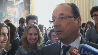 François Hollande au lycée Buffon