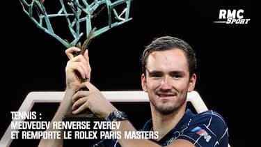 Tennis : Medvedev renverse Zverev et remporte le Rolex Paris Masters