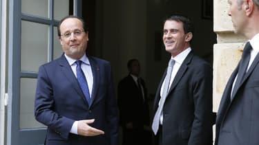 François Hollande et Manuel Valls lundi 29 avril