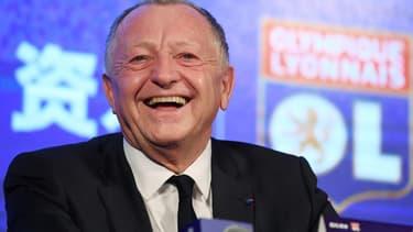 Jean-Michel Aulas, le président de l'Olympique lyonnais.