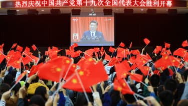 """""""Xuexi Qiangguo"""", dont la traduction littérale est """"Etude pour rendre la Chine forte"""", a été téléchargée plus de 43,7 millions de fois."""