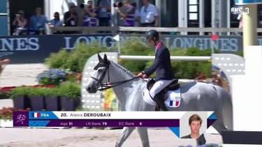 Championnat d'Europe de jumping - Les passages des Français Delmotte et Deroubaix