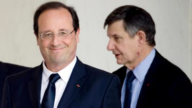 François Hollande et Jean-Pierre Jouyet, le 18 juin 2014.