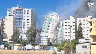 L'immeuble des médias Al-Jazeera et AP à Gaza détruit par l'armée israélienne