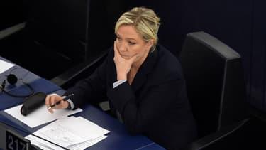 Marine Le Pen au Parlement européen, le 7 juillet 2015.