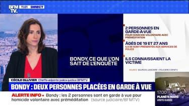 Adolescent tué à Bondy: deux personnes de 19 et 27 ans placées en garde à vue