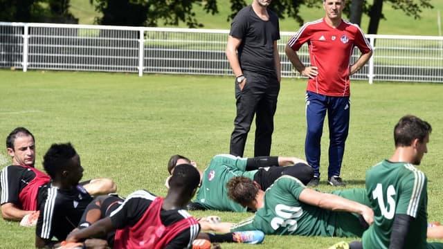 Fabien Barthez, le directeur général du club, et Christophe Pelissier, l'entraîneur, ne verront ni la L2, ni le National la saison prochaine