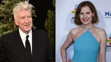 David Lynch et Geena Davis