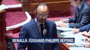 Edouard Philippe face au Sénat.