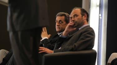 Nicolas Sarkozy et Edouard Philippe, le 26 mai 2015 au Havre.