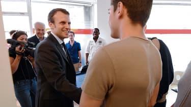 Emmanuel Macron en visite à Lunel, le 27 mai 2016.