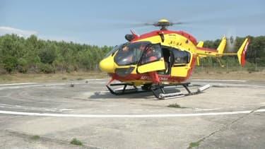 Hélicoptère de la sécurité civile. (Illustration)