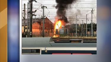 Image de l'incendie survenu à Noisy-le-Sec ce mercredi soir.
