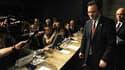 Le ministre grec des Finances à l'issue d'une conférence de presse au siège du FMI, dimanche. Georges Papaconstantinou a assuré que l'aide des Européens et du FMI serait débloquée à temps pour éviter le risque d'un défaut de paiement, alors que les 45 mil