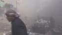 Plongée dans le chaos d'un bombardement à Ariha en Syrie.