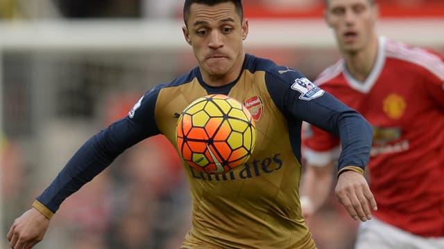 Alexis Sanchez sous le maillot d'Arsenal