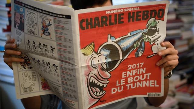 Exemplaire de l'hebdomadaire Charlie Hebdo (illustration)