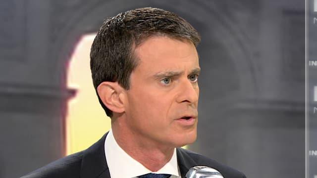 Le Premier ministre Manuel Valls sur le plateau de BFMTV, le 9 décembre 2015
