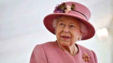 La reine Elizabeth II d'Angleterrre en octobre 2020 à Salisbury