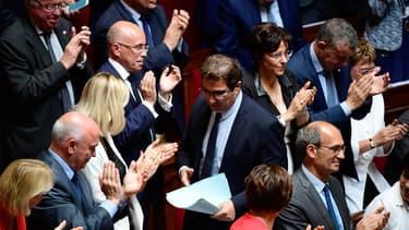 Christian Jacob (au centre) a indiqué que son groupe voterait en faveur de la réforme du rail.