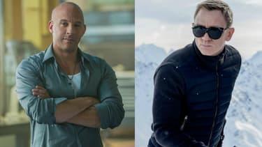 Vin Diesel dans Fast and Furious 7 et Daniel Craig dans Spectre
