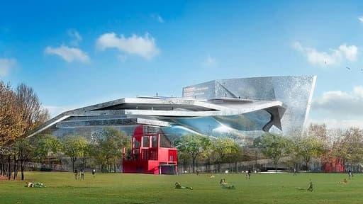 Cette salle de concert sera installée dans le parc de la Villette