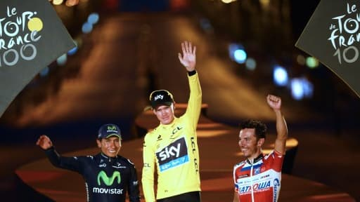 Chris Froome a remporté la centième édition du Tour de France devant Nairo Quintana et Joaquim Rodriguez.