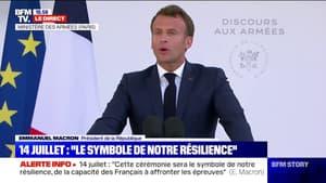 """Emmanuel Macron aux Armées: """"Comptez sur moi, je tiendrai le cap"""""""