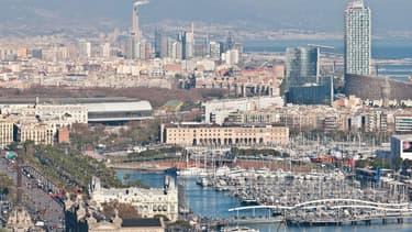 Vue de Barcelone, en Espagne