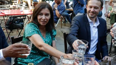 Anne Hidalgo et David Belliard le 2 juin 2020