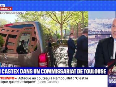 Jean Castex en visite dans un commissariat de Toulouse - 24/04