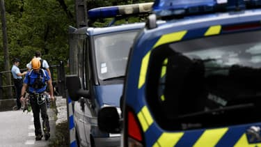 Des recherches menées dans les Gorges de Chailles le 6 septembre 2017 dans le cadre de l'enquête sur la disparition de Maëlys.