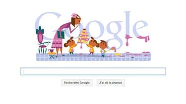 Le doodle du 26 mai rend hommage aux mamans.