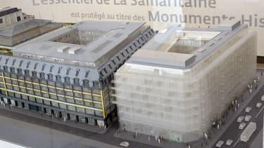 """Le """"rideau de douche"""" prévu sur la façade du bâtiment ne plait pas à tout le monde."""