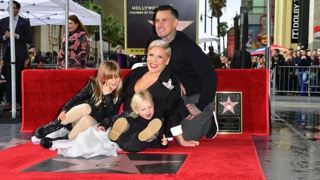 Pink, son mari et ses deux enfants le 5 février 2019
