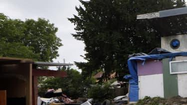 Les Roms vivent dans bidonville du nord de Marseille
