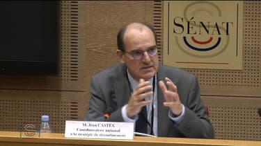 Jean Castex, coordonnateur national à la stratégie de déconfinement, auditionné par le Sénat, le 6 mai 2020.