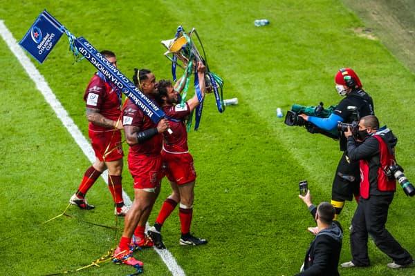 Tekori lors de la finale de Champions Cup, à Twickenham le 22 mai 2021