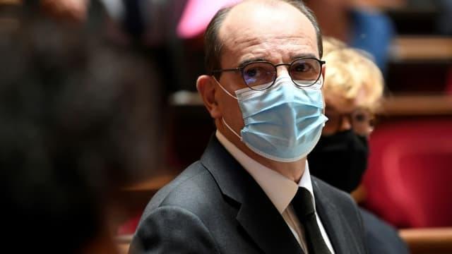 Le Premier ministre Jean Castex, au Sénat le 16 juillet 2020 à Paris