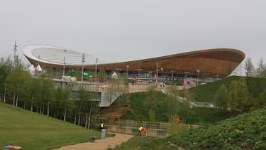 Une des infrastructures des JO: le vélodrome olympique, dans l'est de Londres.