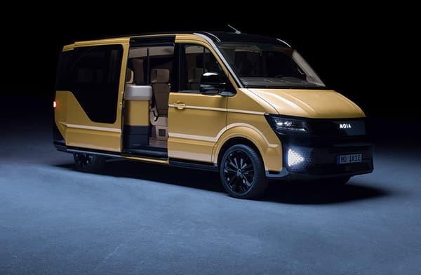 Le minibus électriques Moïa dispose d'une autonomie de 300 kilomètres.
